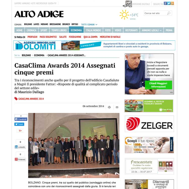 CasaClima Awards 2014