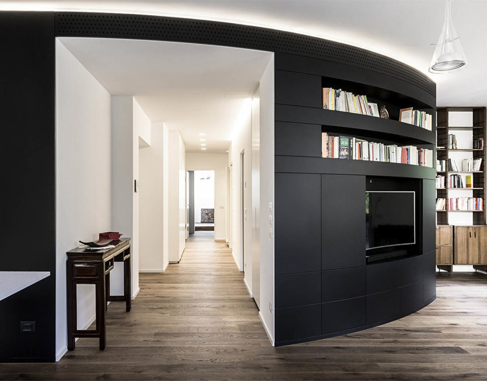 Interior design of apartment in Bolzano