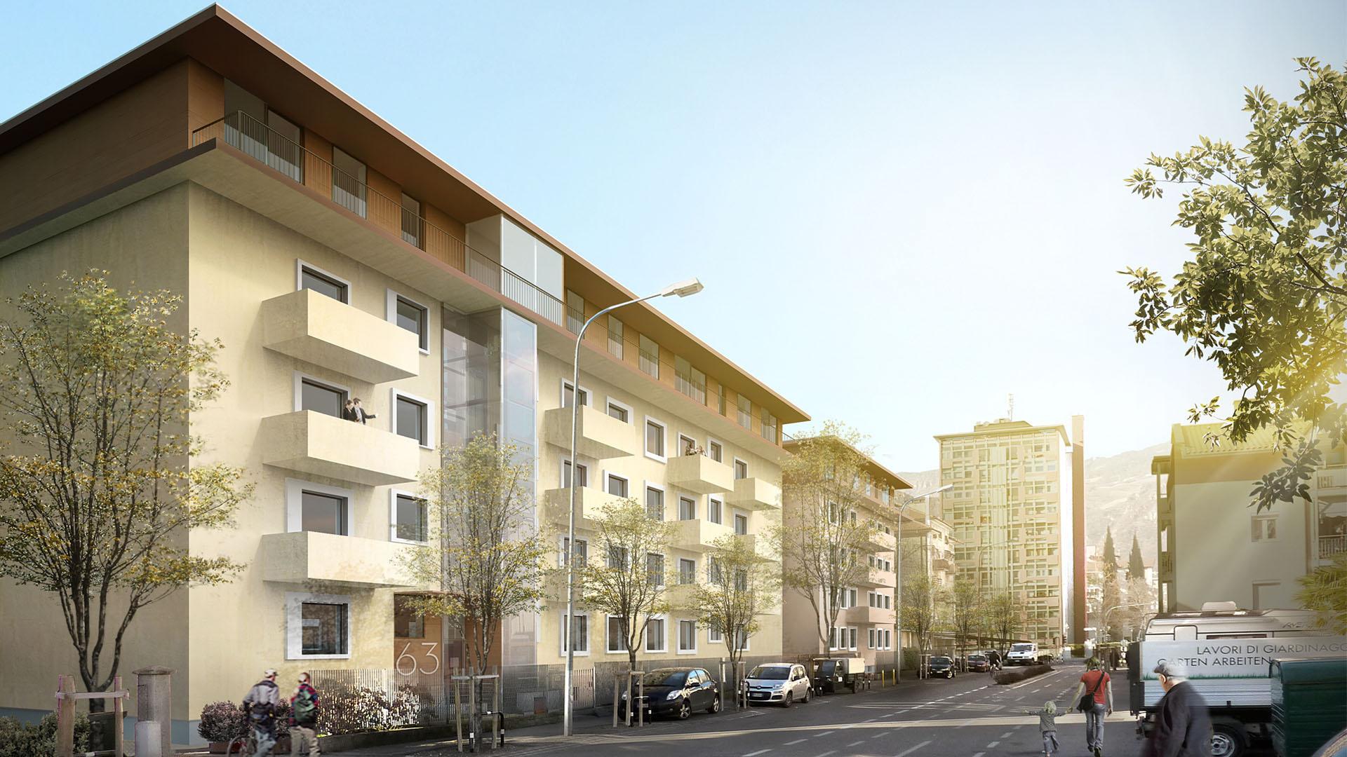 Energetische Sanierung Parmastrasse, Bozen